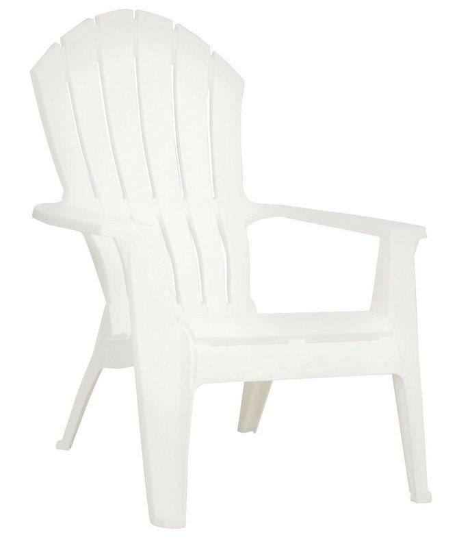Merveilleux Adams RealComfort White Polypropylene Adirondack Adirondack Chair