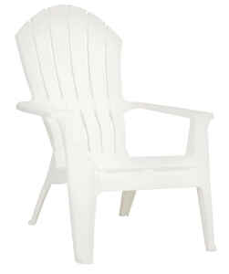 Adams  RealComfort  White  Polypropylene  Adirondack Chair