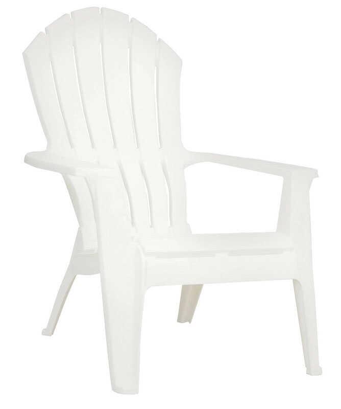 Astounding Adams Realcomfort 1 White Polypropylene Adirondack Chair Evergreenethics Interior Chair Design Evergreenethicsorg