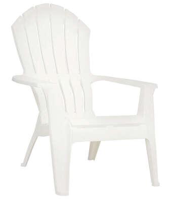 Adams Realcomfort 1 Pc White Polypropylene Frame Adirondack Chair White Ace Hardware