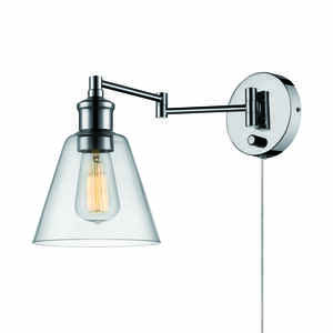 Globe  1  Chrome  Metallic  Wall Sconce