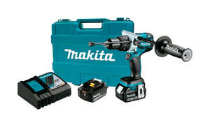 Makita  LXT  18 volts 1/2 in. Brushless Cordless Hammer Drill/Driver  Kit 2100 rpm 2