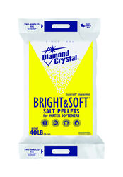 Diamond Crystal Bright & Soft Water Softener Salt Pellets 40 lb.