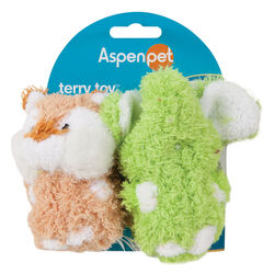 Aspen Pet Multicolored Elephant Terrycloth Squeak Dog Toy Small