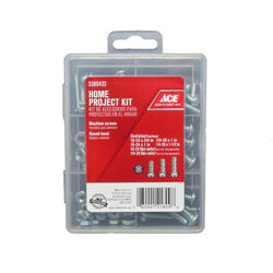 Ace  Assorted in.  Slotted  Round Head Zinc-Plated  Steel  Machine Screws  71 pk