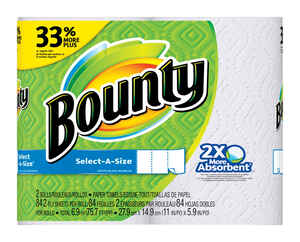 Bounty  Select-A-Size  Paper Towels  84 sheet 2 ply 2 pk