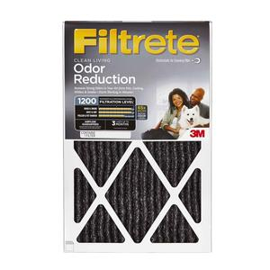 3M  Filtrete  14 in. W x 25 in. H x 1 in. D Carbon  Pleated Air Filter