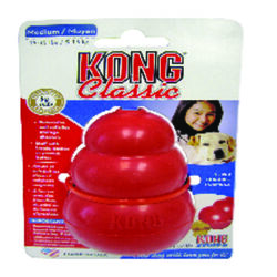 Kong  Red  Chew  Rubber  Chew Dog Toy  Medium