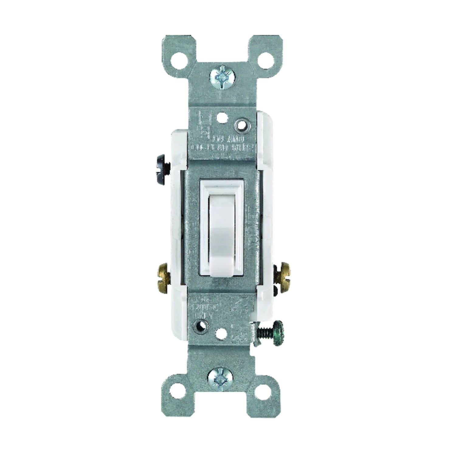 Leviton  Heavy-Duty  15 amps Toggle  Switch  White  1 pk