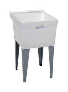 Utilatub  20 in. W x 24 in. D Single  Polypropylene  Laundry Tub
