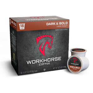 Workhorse Coffee  Dark & Bold Roast  Coffee K-Cups  18 pk