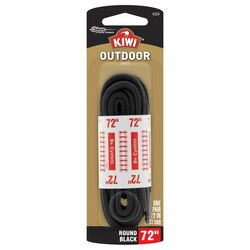 Kiwi Outdoor 72 in. Black Boot Laces