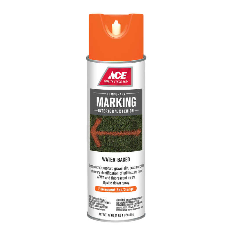 Ace  Water-Based  Red  Field Marking Chalk  17 oz.