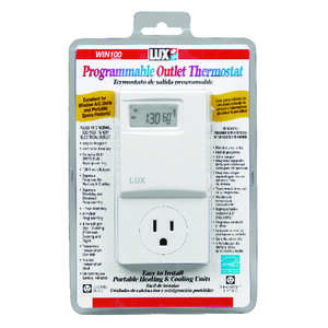 Lux  Heating and Cooling  Touch Screen  Programmable Outlet Thermostat