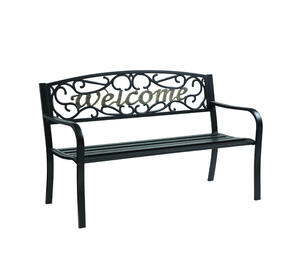 Living Accents Welcome Park Bench Steel 33 5 In H X 23 5