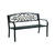 Living Accents  Welcome  Park Bench  Steel  33.5 in. H x 23.5 in. L x 50.5 in. D