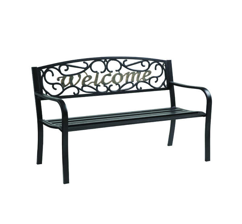Living Accents Metropolitan Patio Furniture: Living Accents Welcome Park Bench 23.5 In. L X 33.5 In. H