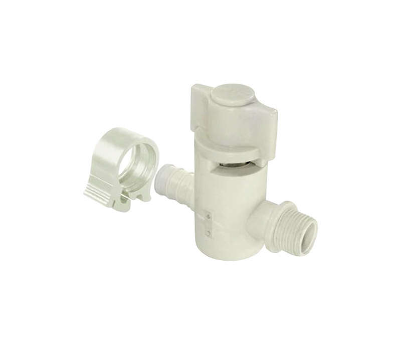 Flair-It  1/2 in. PEX   x 3/8 in.  Compression  Plastic  Supply Valve