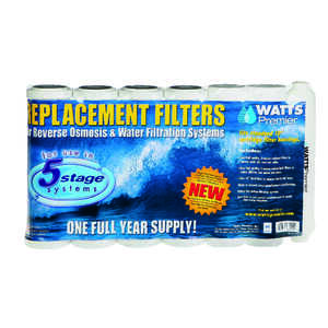 Watts  Premier  Replacement Water Filter  For Under Sink 3000 gal.