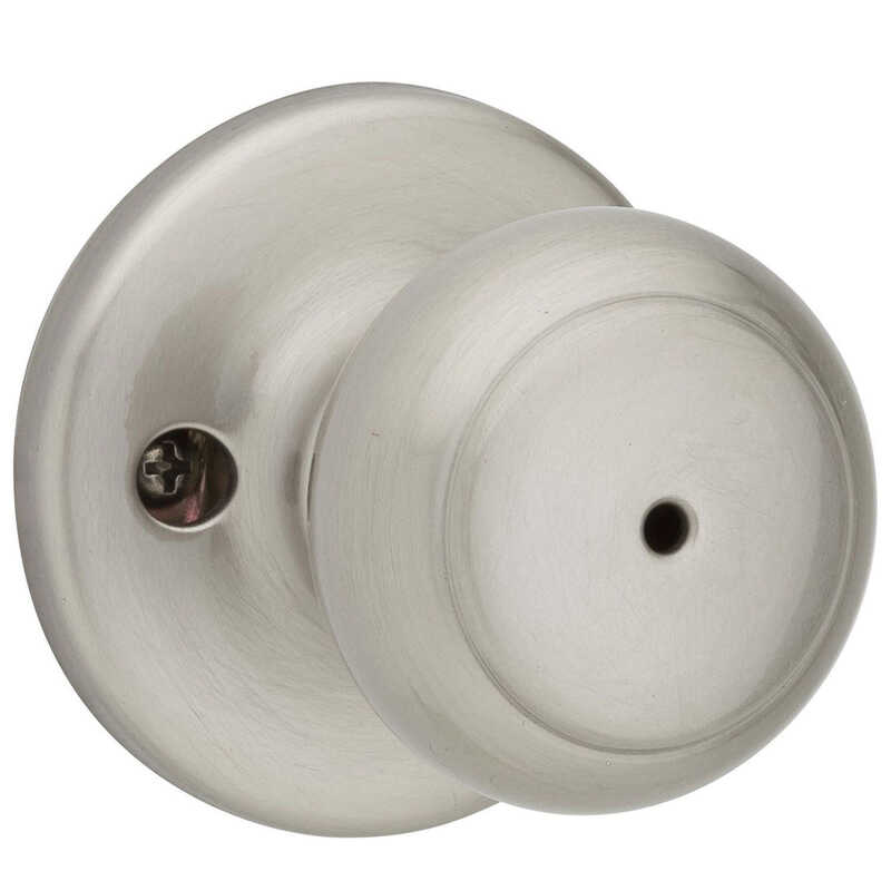 Kwikset  Cove  Satin Nickel  Steel  Privacy Knob  3 Grade Right or Left Handed