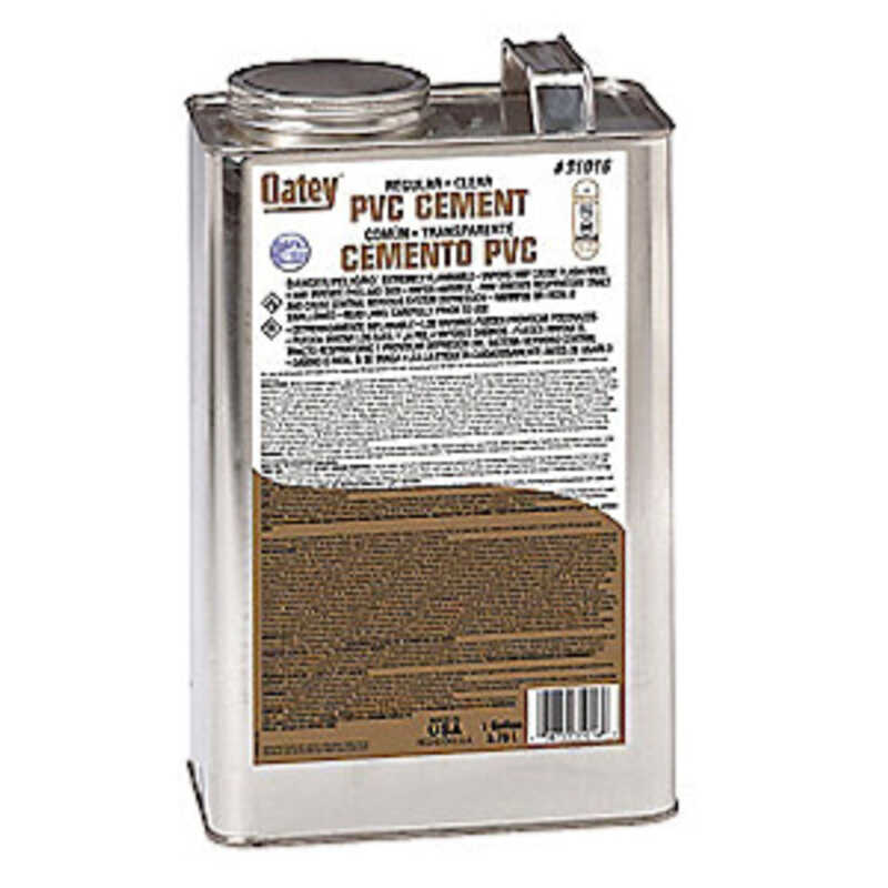Oatey  Clear  Cement  For PVC 1 gal.