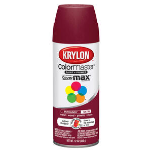 Krylon  ColorMaster  Satin  Burgundy  Spray Paint  12 oz.