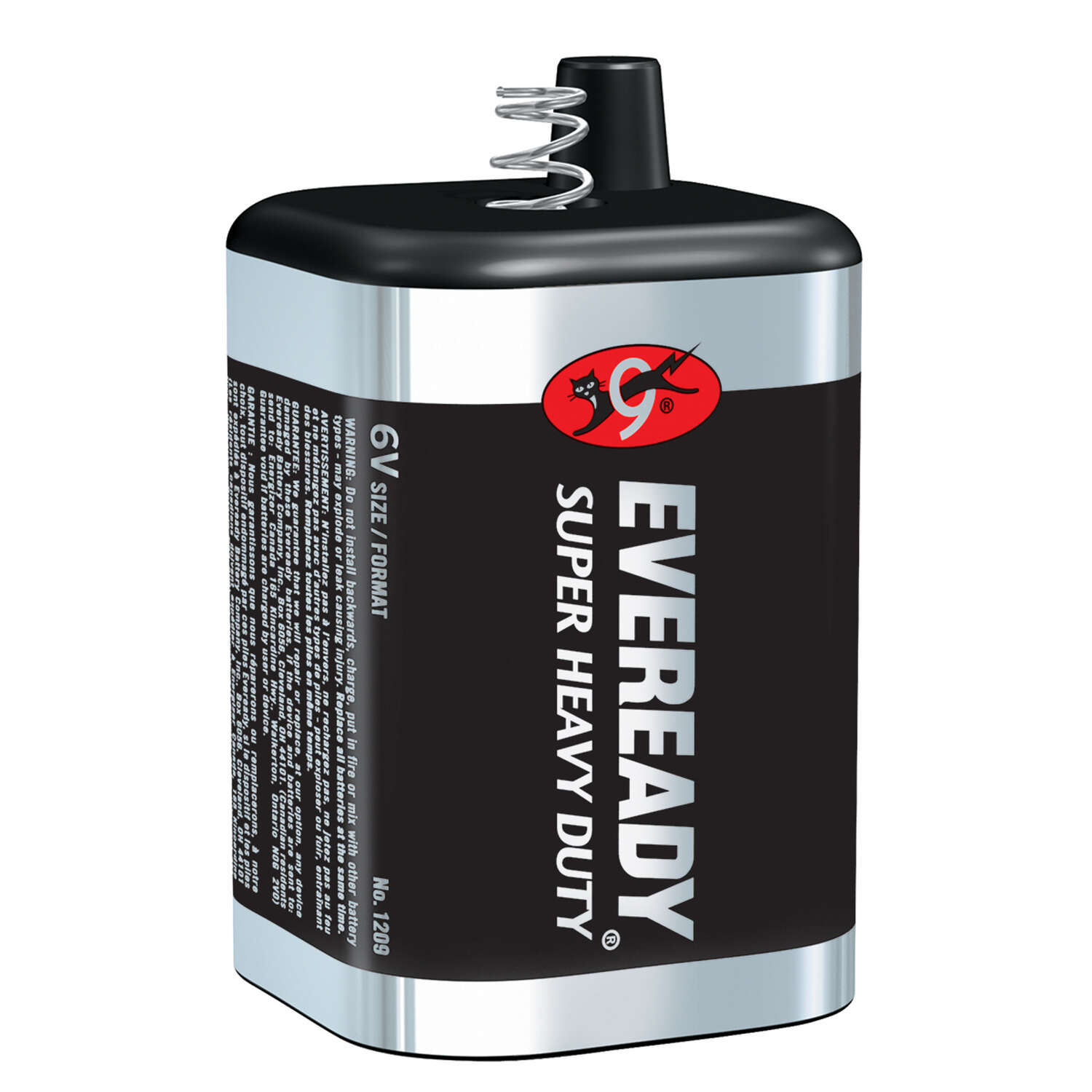 Energizer Eveready 6-Volt Zinc Carbon Lantern Battery 1 pk Bulk