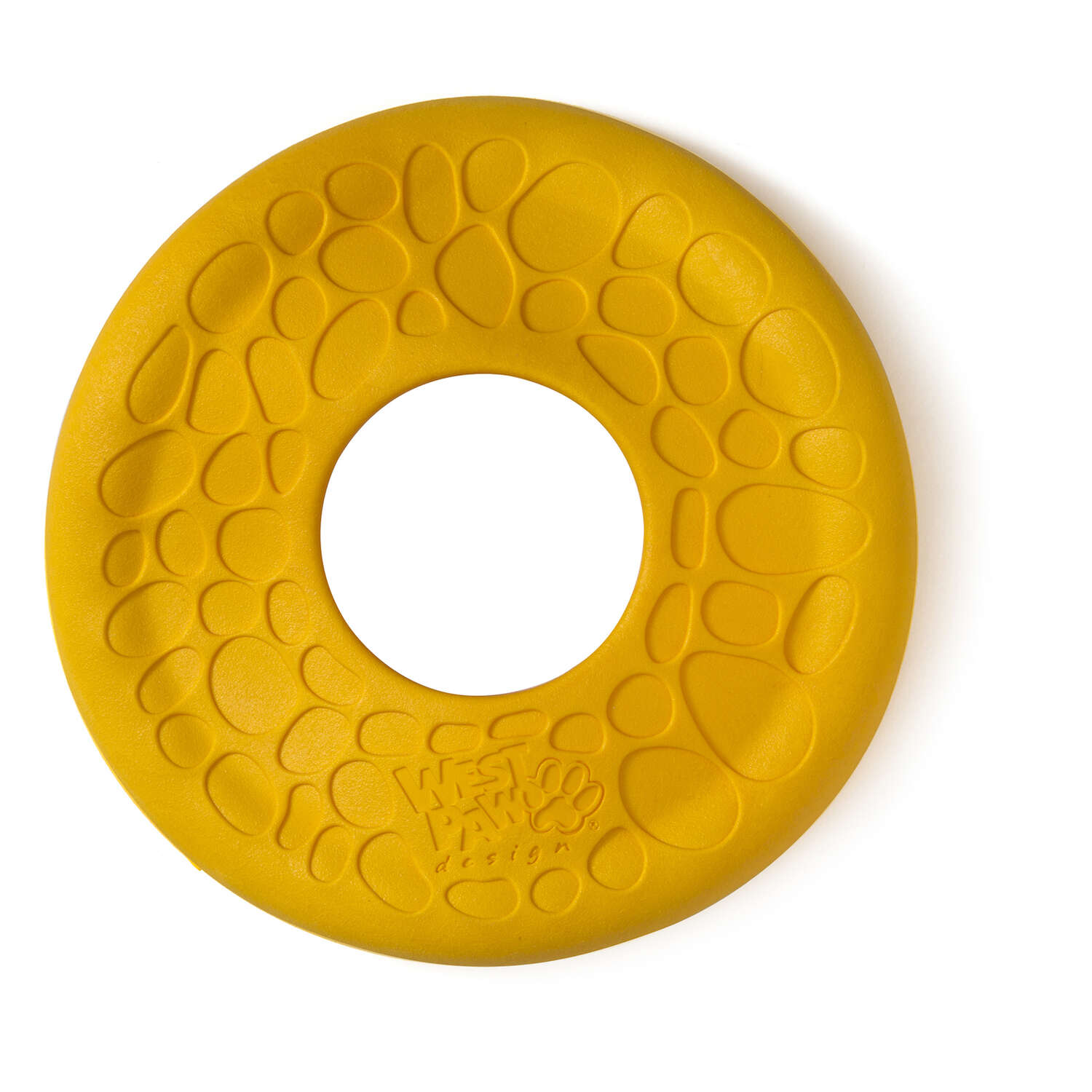 West Paw  Zogoflex Air  Yellow  Disc  Synthetic Rubber  Frisbee  Medium