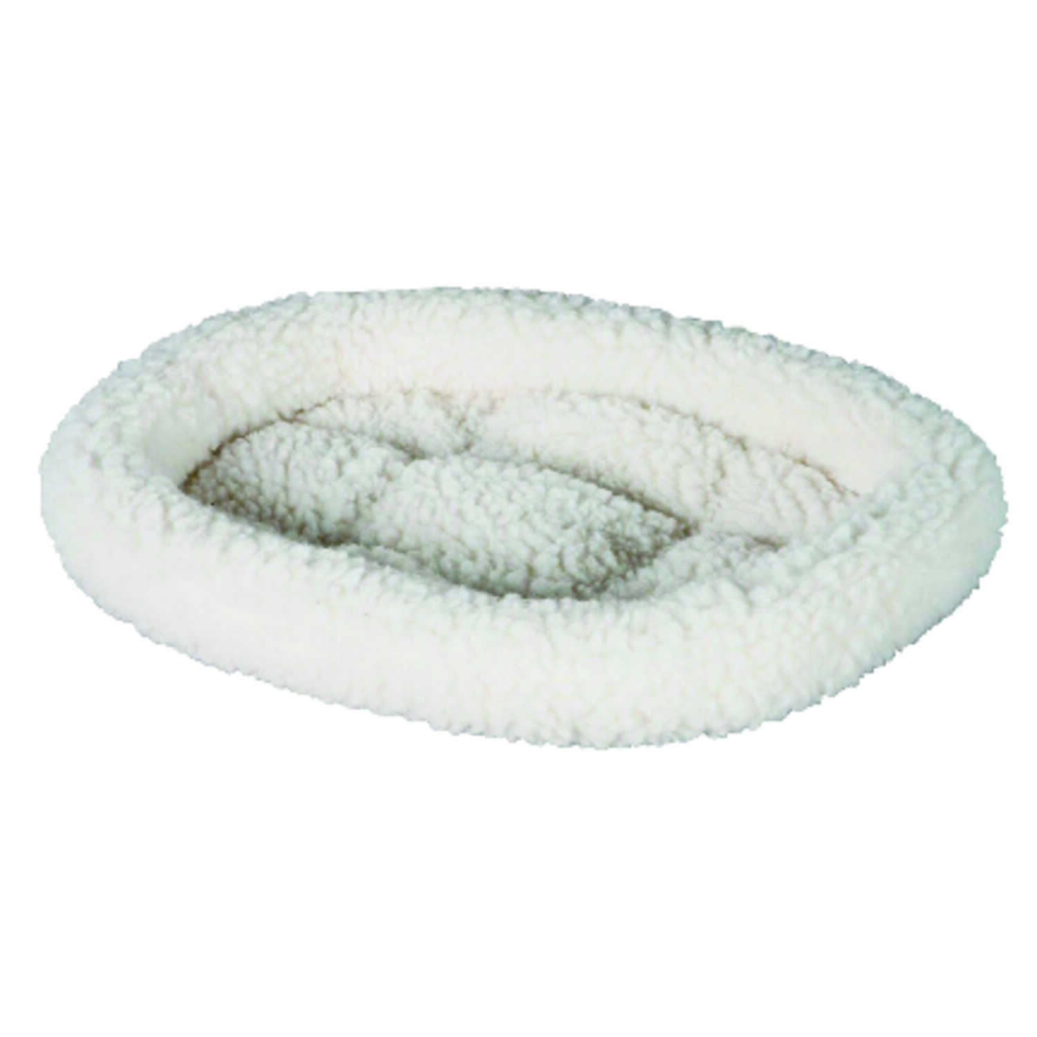 Petmate  White  Poly Cotton  Oval  Pet Bed  2 in. H x 18 in. W x 14 in. L