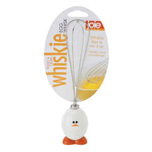 Joie  Whiskie Egg  White/Silver  Plastic/Stainless Steel  Whisk  1 pk