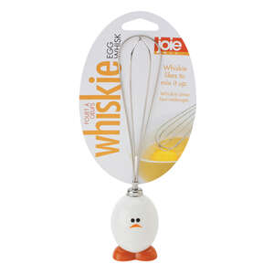 Joie  Whiskie Egg  White/Silver  Whisk