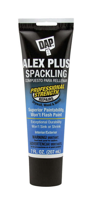 DAP  Alex Plus  Ready to Use White  Spackling Compound  7 oz.