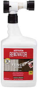 Rust-Oleum  Renovator  Semi-Transparent  Saddle Brown  Fence Stain  56 oz.