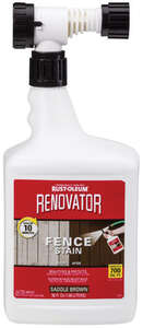 Rust-Oleum  Renovator Fence Stain  Semi-Transparent  Saddle Brown  Fence Stain  56 oz.