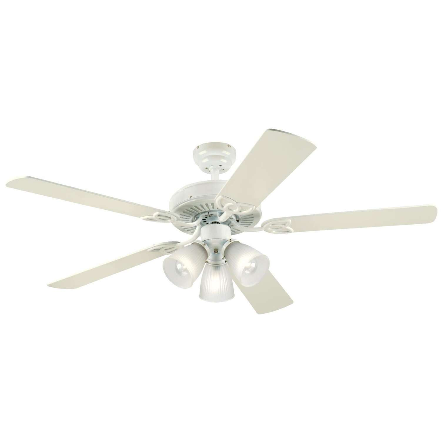 Westinghouse  Vintage  52 in. Antique White  Indoor  Ceiling Fan