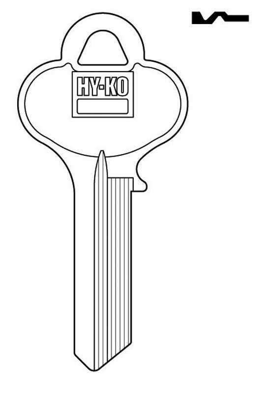Hy-Ko  Automotive  Key Blank  Single sided For Fits Lori