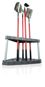 Rubbermaid  20 in. H x 32 in. W x 19 in. D Black  Rubber  Corner Tool Tower