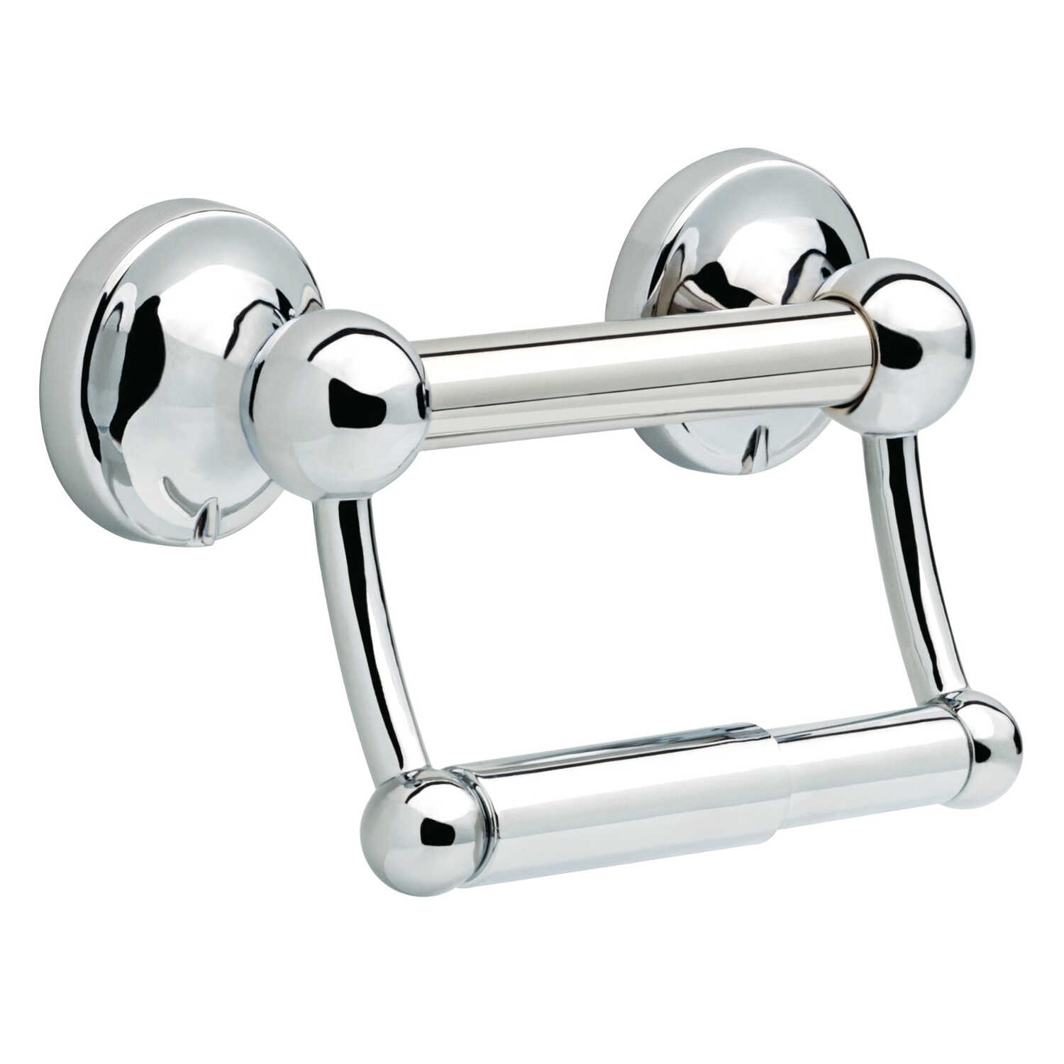 Delta  Polished Chrome  Stainless Steel  Toilet Paper Holder with Assist Bar  5 in. H x 8.7 in. W x