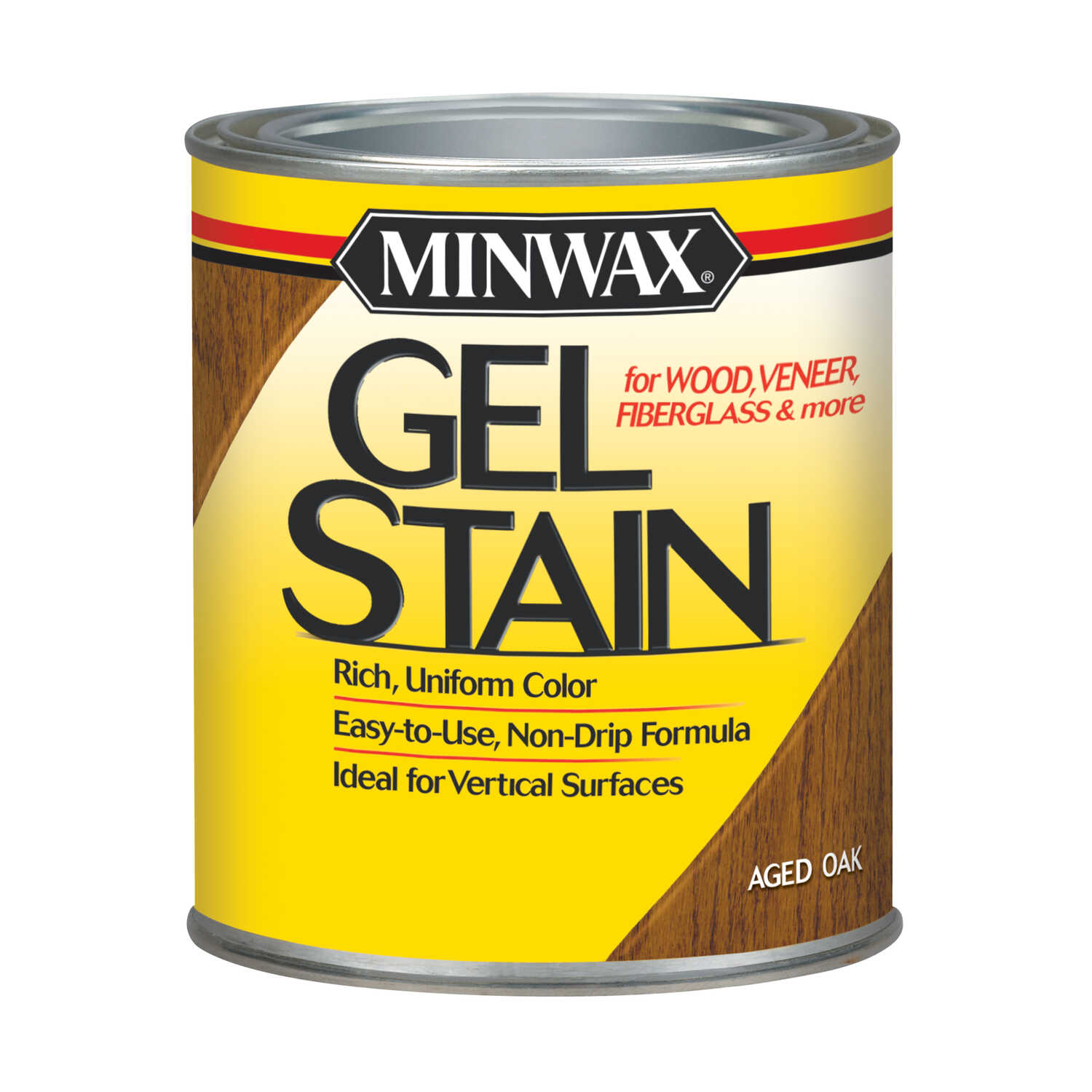 Minwax  Wood Finish  Transparent  Low Luster  Aged Oak  Oil-Based  Gel Stain  1 qt.