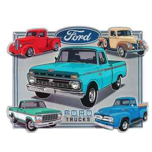 Open Road Brands  Ford  13 in. H x 0.125 in. W x 17.3 in. L Multicolored  Metal  Tin Sign