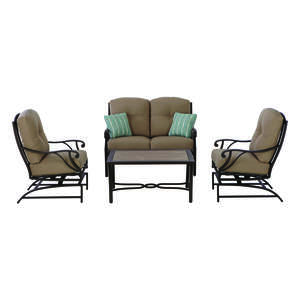Living Accents  4 pc. Somerset  Brown  Patio Set