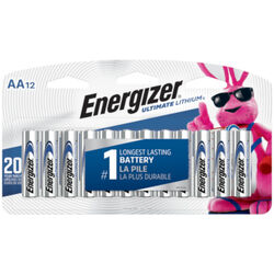 Energizer  Ultimate  Lithium  AA  1.5 volt Battery  12 pk