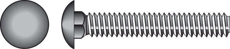 Hillman  1/2 in. Dia. x 2-1/2 in. L Zinc-Plated  Steel  Carriage Bolt  25 pk