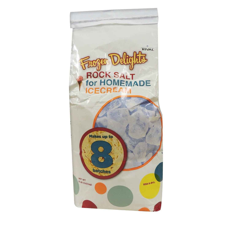 Rival Frozen Delights Rock Salt 8 lb  Bagged - Ace Hardware