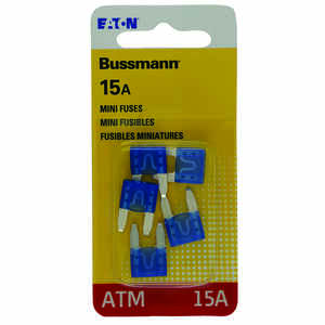 Bussmann  15 amps ATM  Mini Automotive Fuse  5 pk