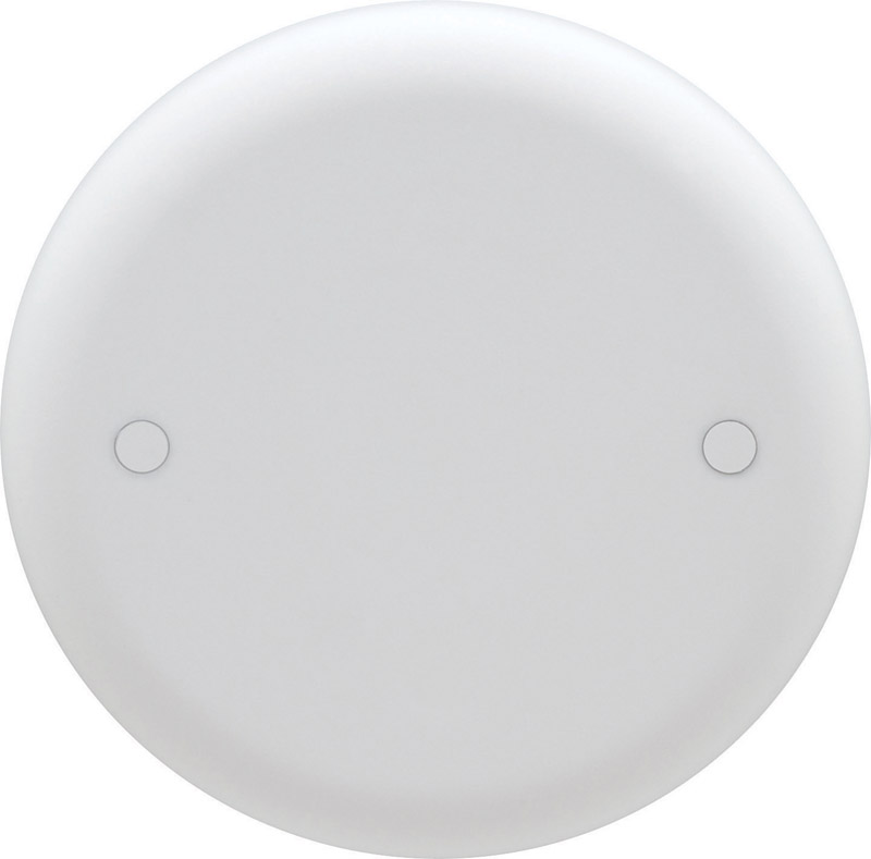 Thomas & Betts  Round  PVC  Outlet Box Cover  For Ceiling Boxes 1 gang