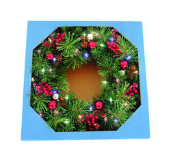 Celebrations  Castle Hill  Prelit Green  Christmas Wreath  26 in. Dia. Color Changing