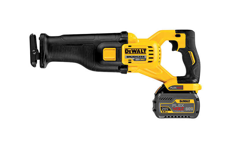 DeWalt  60V MAX FlexVolt  1-1/8 in. Cordless  Brushless Reciprocating Saw  Kit 60 volt 3000 spm