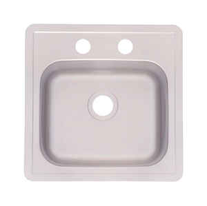 Kindred  Stainless Steel  Top Mount  15 in. W x 15 in. L One Bowl  Bar Sink