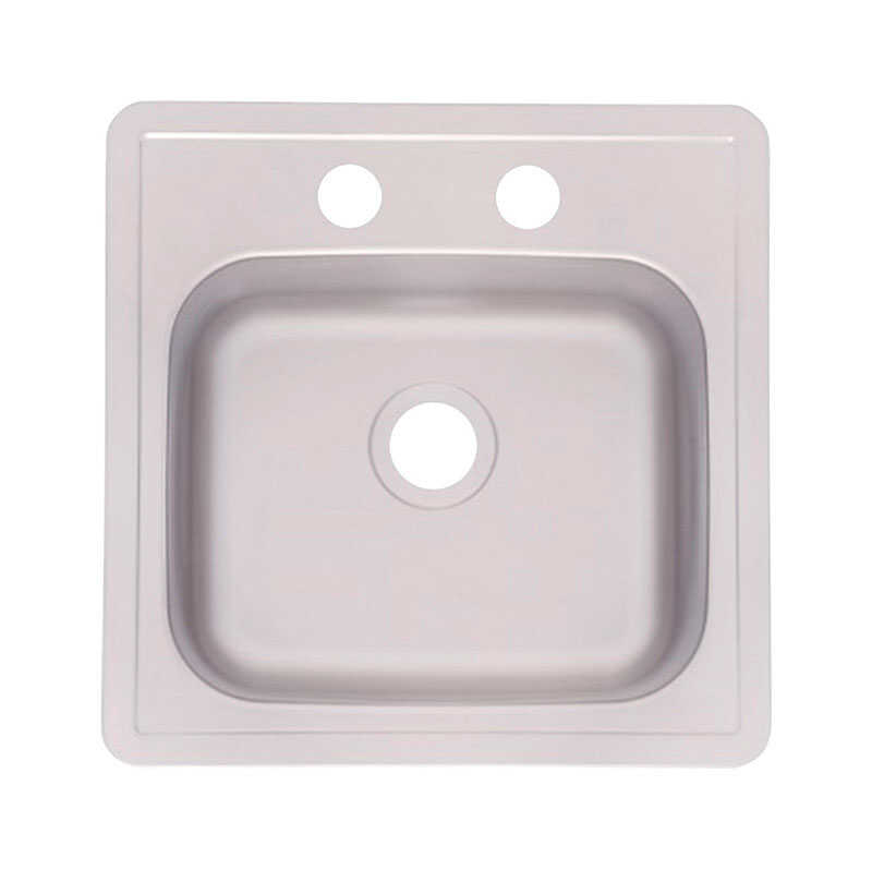 Kindred  Stainless Steel  Top Mount  15 in. W x 15 in. L Bar Sink